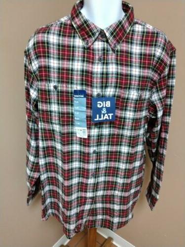 basic editios red plaid soft flannel shirt