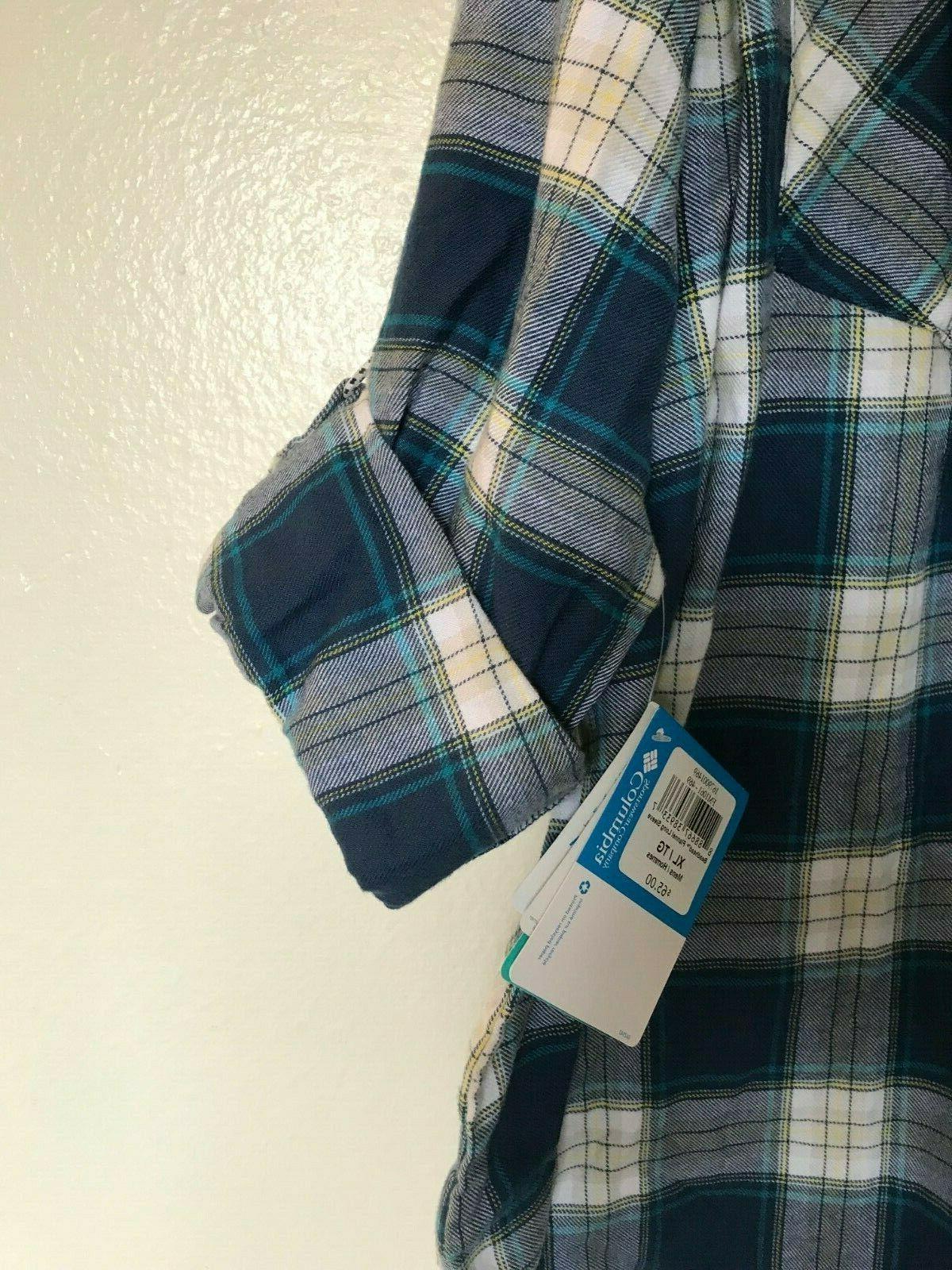 Columbia Beadhead Flannel Sleeve Shirt X NWT