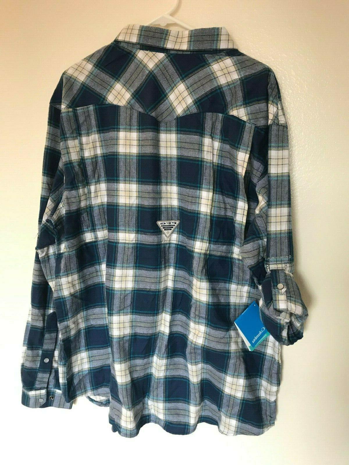 Columbia Beadhead Flannel Long Sleeve Mens Shirt X Large NWT