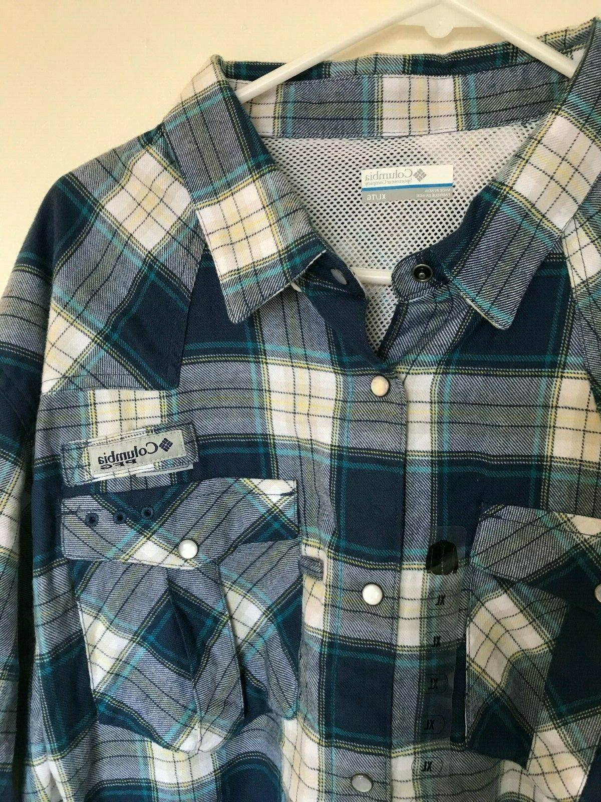 Columbia Beadhead Flannel Long X Large