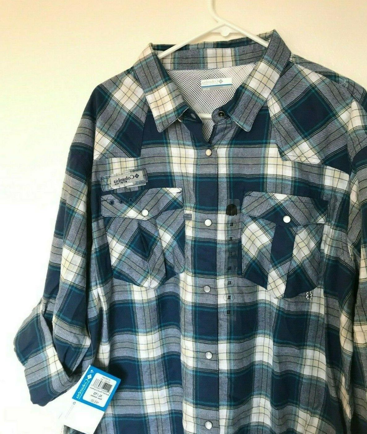beadhead flannel long sleeve mens shirt size