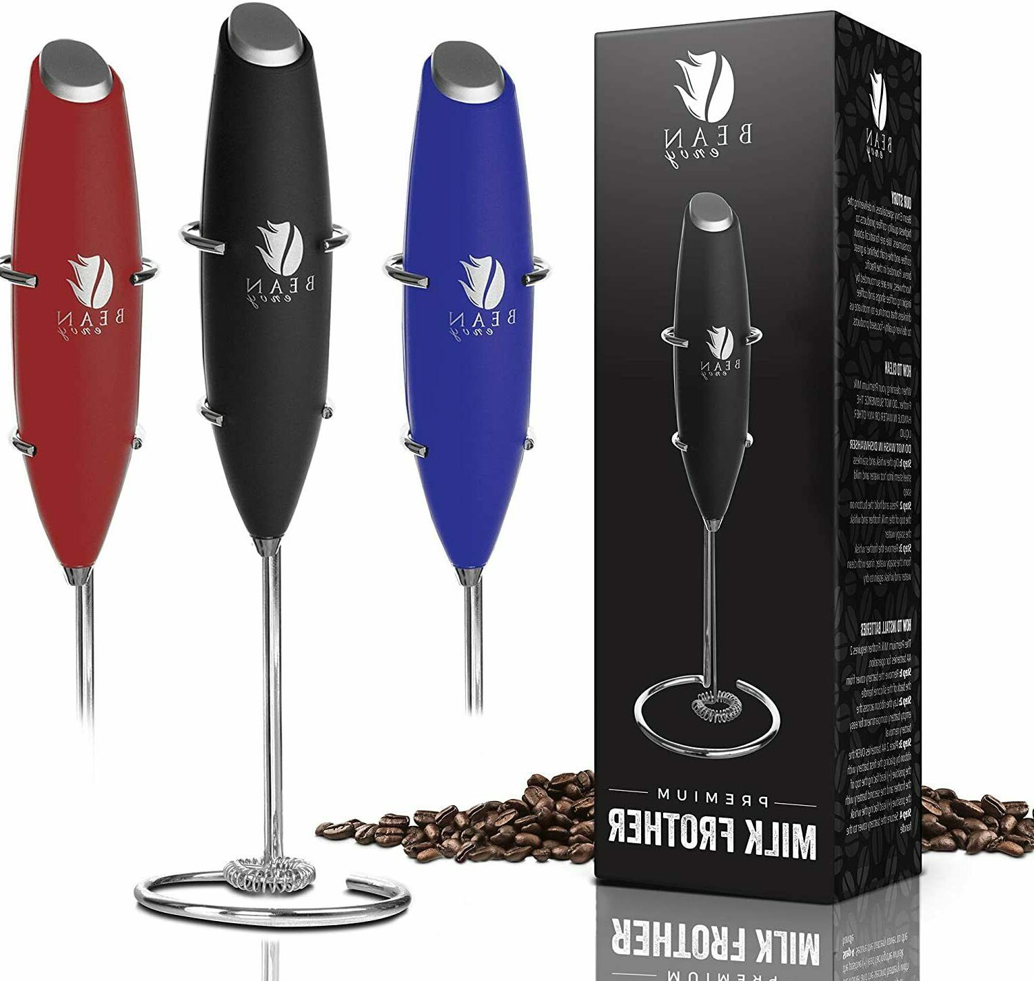 bean envy milk frother handheld perfect
