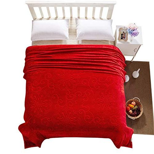 StrongSK Blankets High Weighted Size Embossed Flannel Blankets Soft Warm Travel 200x230cm 1 PCs