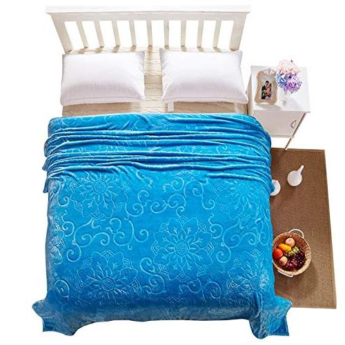 StrongSK Weighted Embossed Flannel Soft Thick Warm Blanket Throw Bed Sofa Travel 200x230cm