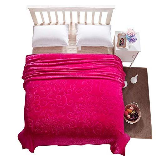 StrongSK - High Weighted King Size Flannel Blankets Warm Coral Fleece Throw Travel 200x230cm 1