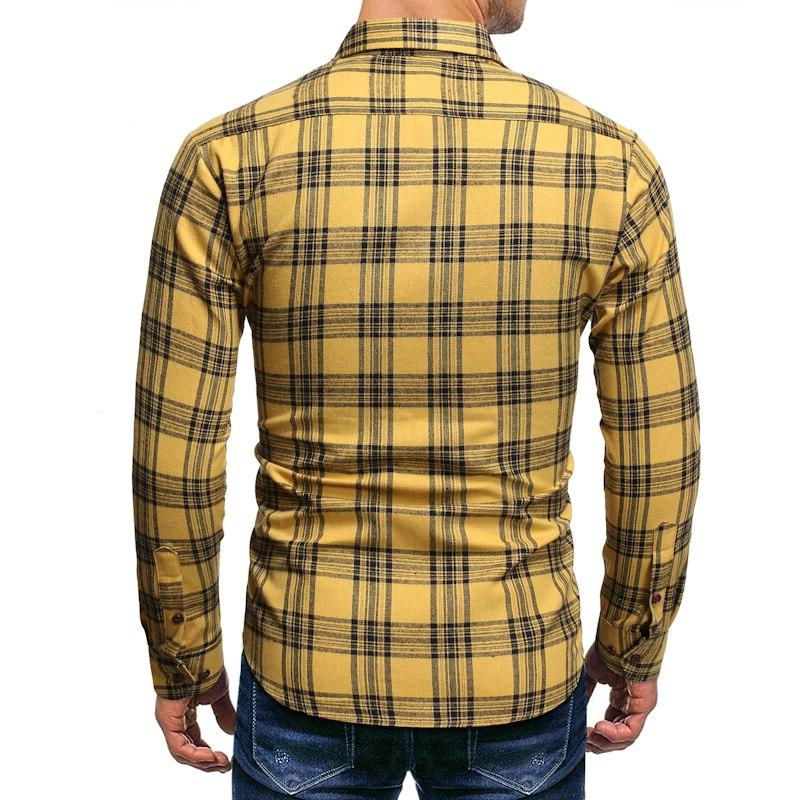 Brand Lapel Long Sleeve <font><b>Shirts</b></font> IT Hop Streetwear