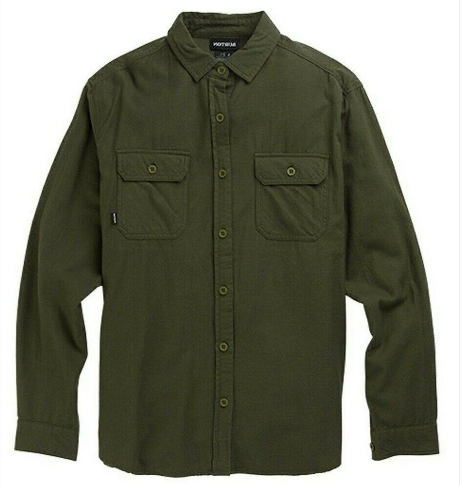 brighton flannel shirt men s small long