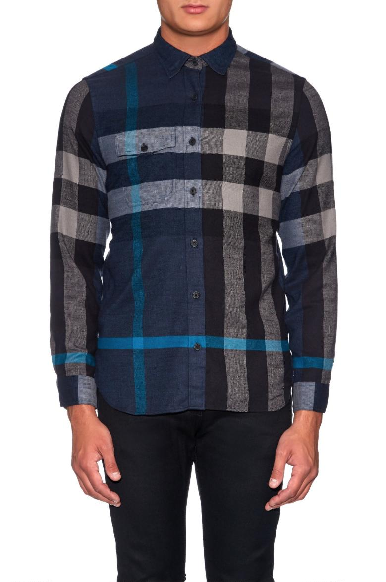 BURBERRY Check Flannel Ink