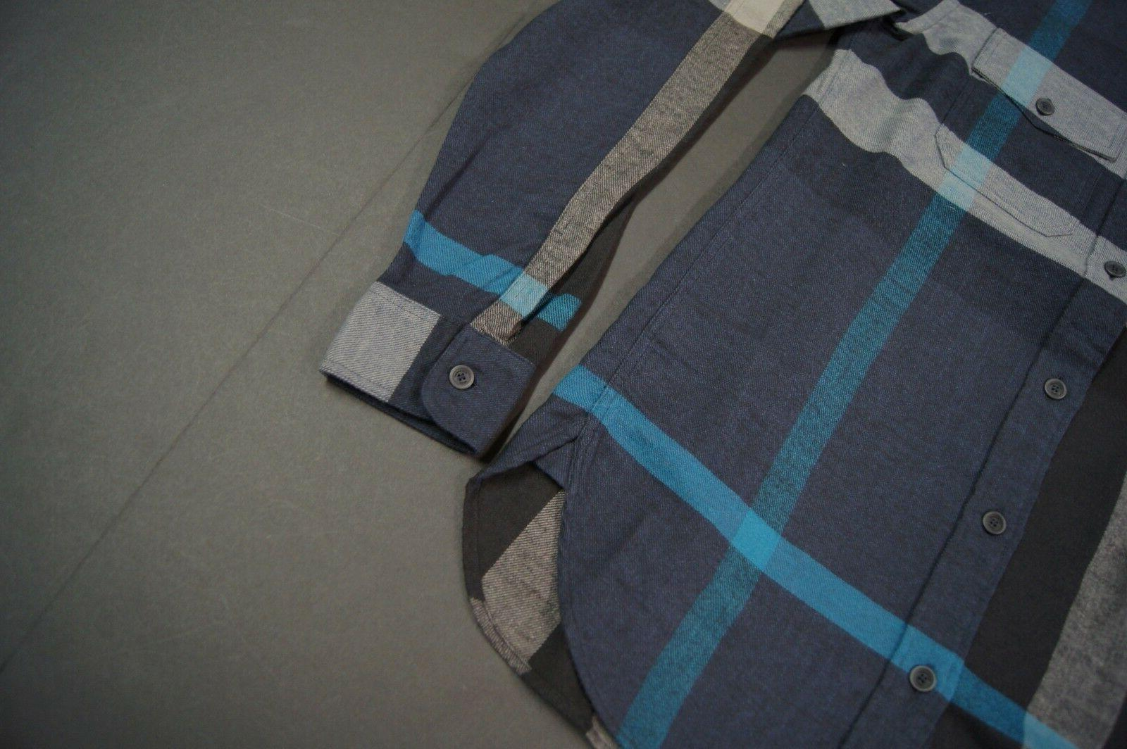 BURBERRY Exploded Check Pocket Flannel Ink Blue NEW NWT