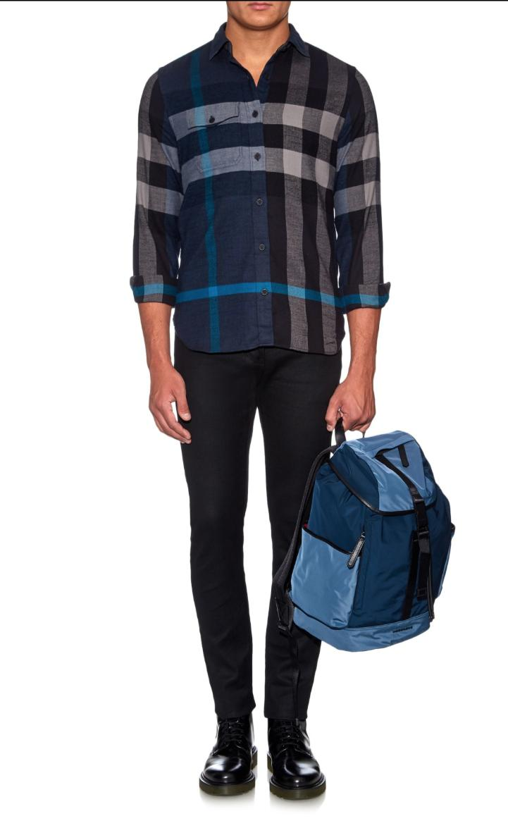 brit jamie exploded check pocket flannel shirts