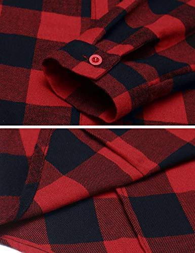Women's Check Long Sleeve Collar Casual