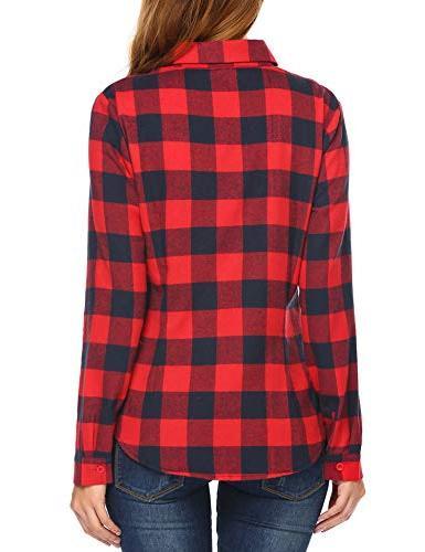 Women's Long Sleeve Collar Casual Button Shirts