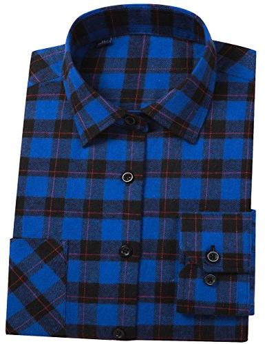 button down buffalo plaid checked