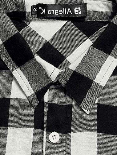 Allegra K Button Up Long Collar Shirt Black XS