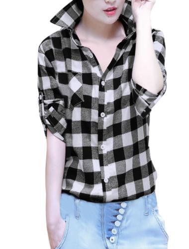 button long sleeve point collar