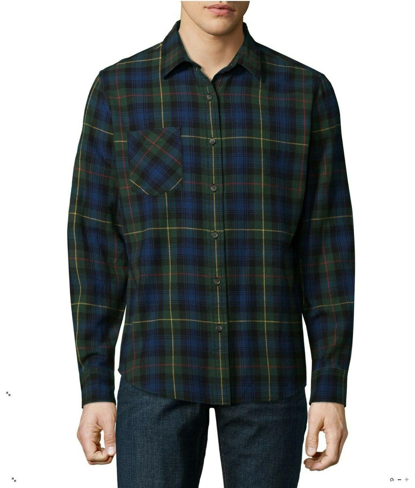 button up shirt plaid flannel long sleeve