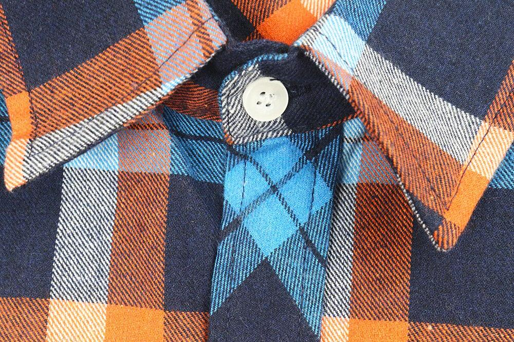 JIANGYIXUAN Button Down Lapel Plaids Checks <font><b>Flannel</b></font> <font><b>Shirts</b></font> Sleeve Tops Blouse free shipping <font><b>S</b></font>-144