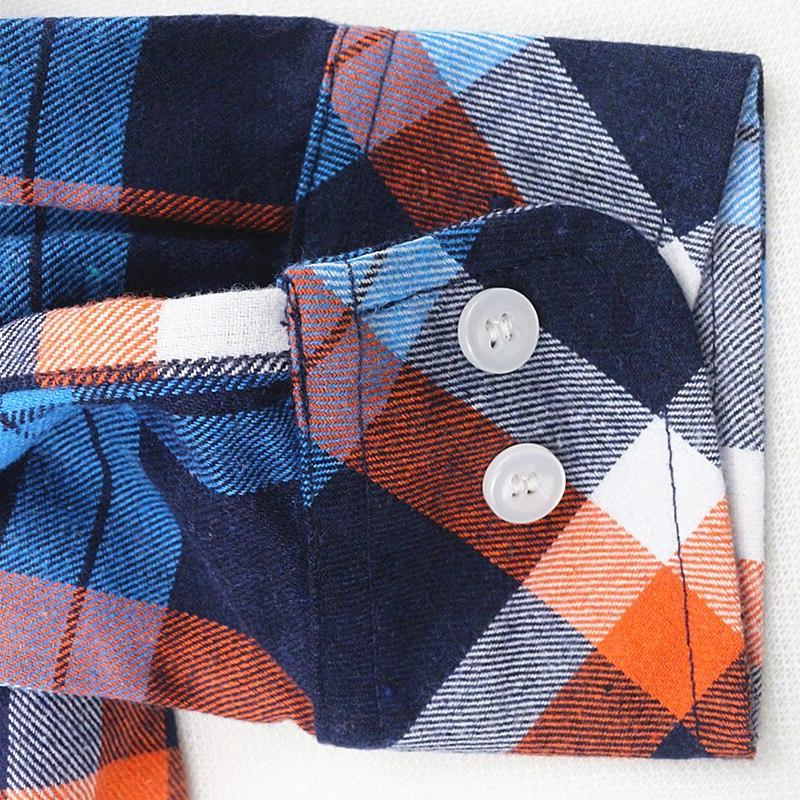 JIANGYIXUAN Lapel Plaids <font><b>Flannel</b></font> Women Sleeve Tops shipping