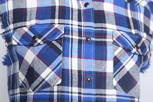 NUTEXROL Plaid Shirt Sleeveless Plus and