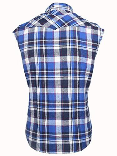 NUTEXROL Casual Plaid Shirt Plus and White M