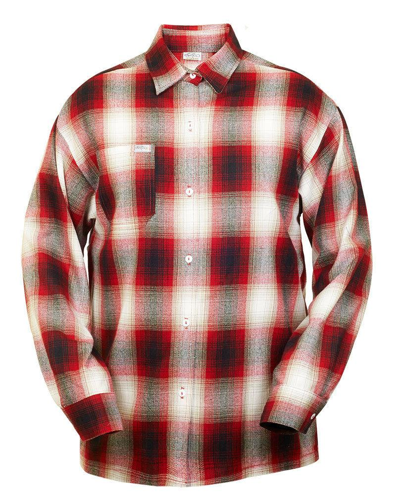 CAL Button-Front Old School Flannel