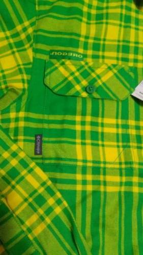 Columbia LS Shirt Small Green