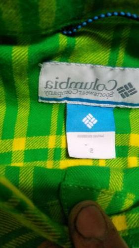 Columbia Mens LS Shirt Small Oregon Green
