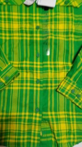 Columbia Mens LS Shirt Size Small Green