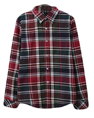 comfy flannel long sleeve plaid
