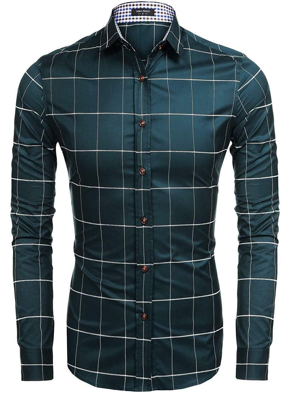 COOFANDY Men's Fashion Sleeve Down Shirts