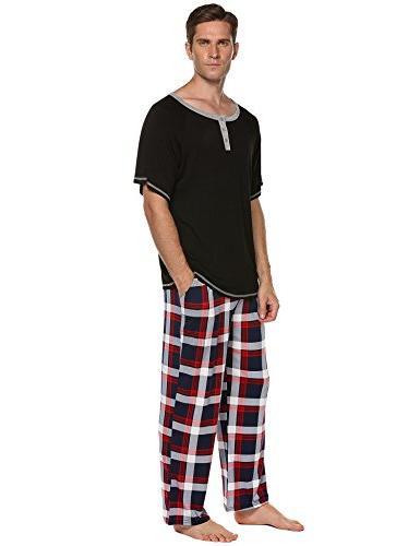 Ekouaer Cotton Pajamas,O Neck Shirt Long
