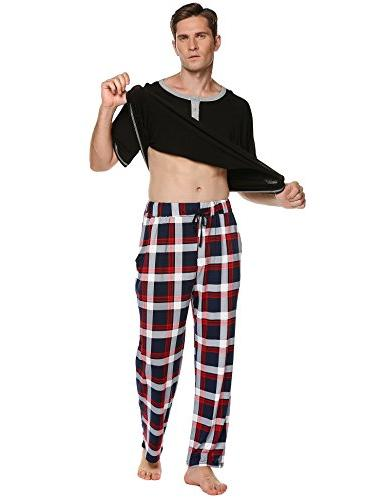 Ekouaer Pajamas,O Shirt Long Pants Pj