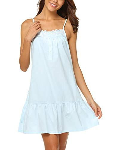 Ekouaer Cotton Victorian Nightgowns Pajama
