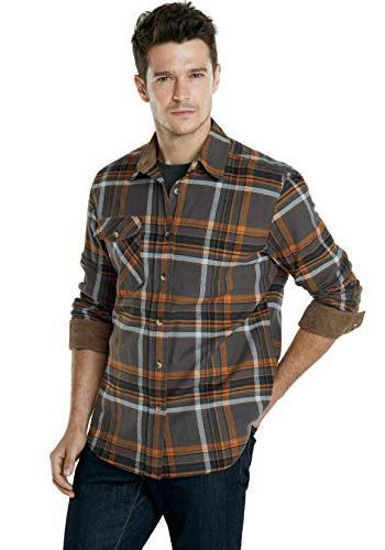 CQR CQ-HOF110-DGY_3X-Large Flannel Long 100% Cotton Brushed HOF110