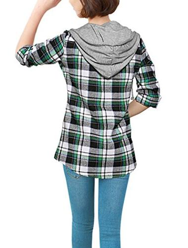 Allegra Hooded Long Shirts Green