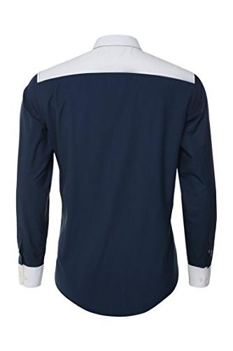 Coofandy Long Sleeve Color Blue,Large