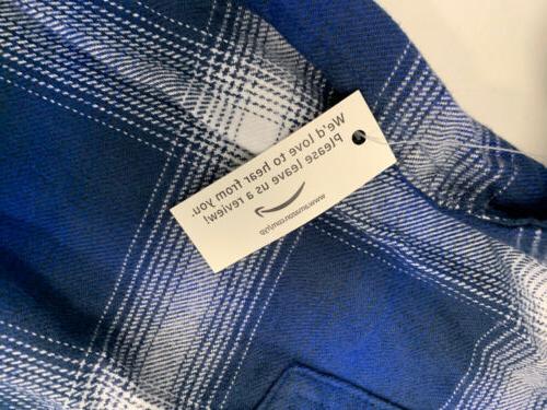 Amazon Long-Sleeve Plaid Flannel Medium