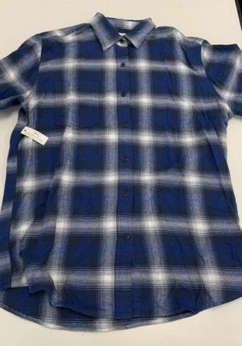 Amazon Men's Long-Sleeve Plaid Flannel Medium Mens
