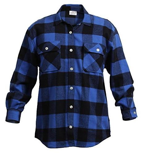 Blue Flannel Shirt - 3X-Large