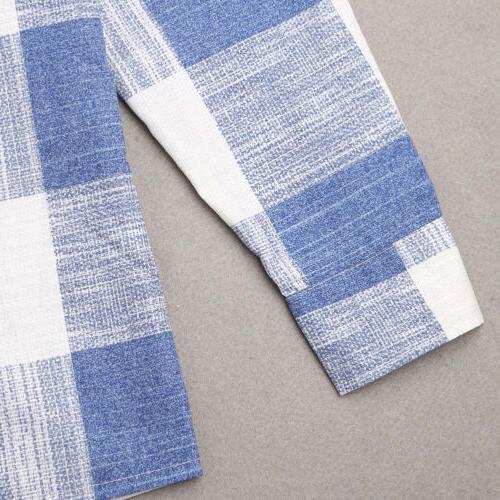 Fashion Men's Cotton Linen Shirt Long