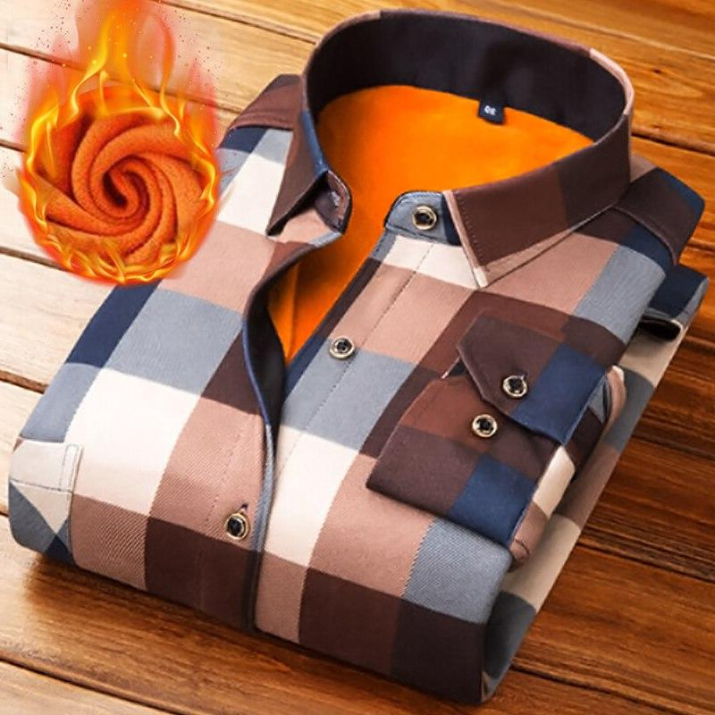 fashion men winter thick font b flannel