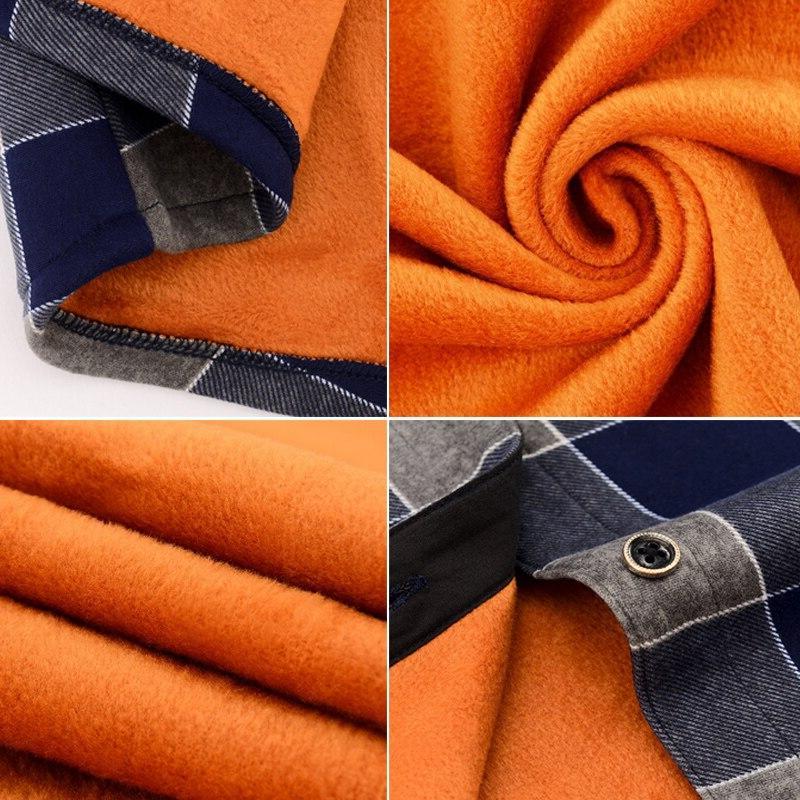 Fashion Men Winter <font><b>Flannel</b></font> Dress Cotton <font><b>Work</b></font> <font><b>Shirts</b></font> Brand Slim <font><b>Shirts</b></font>