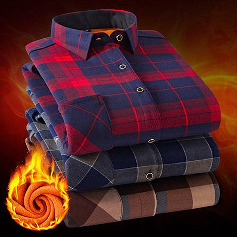 fashion men winter warm font b flannel