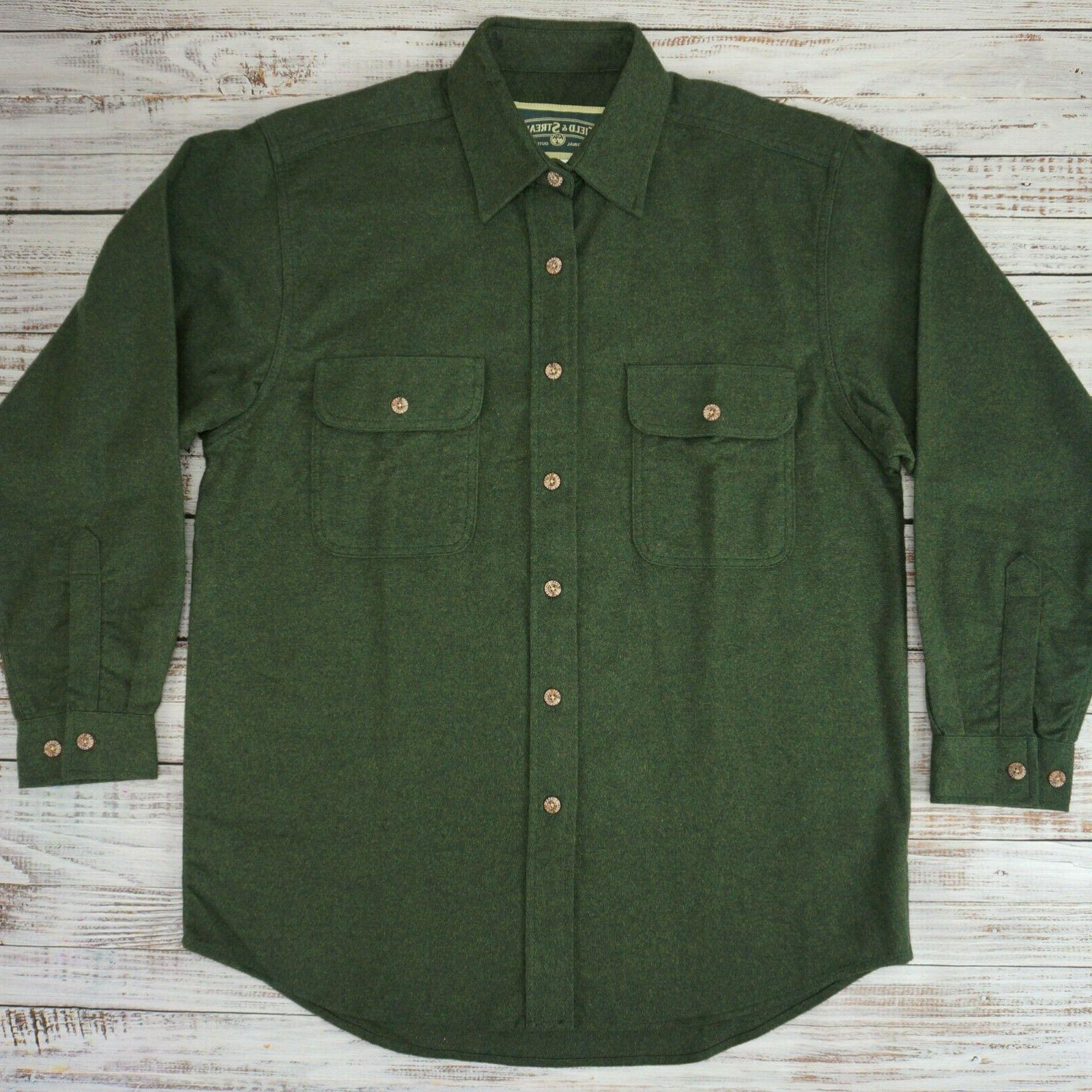 field and stream chamois shirt jacket loden