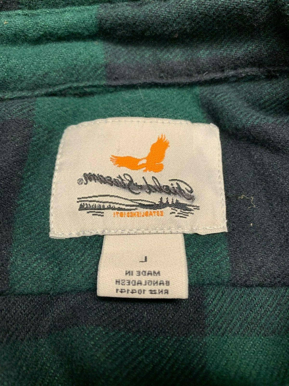 Field & Stream Men's Flannel Shirt Button Long Sleeve