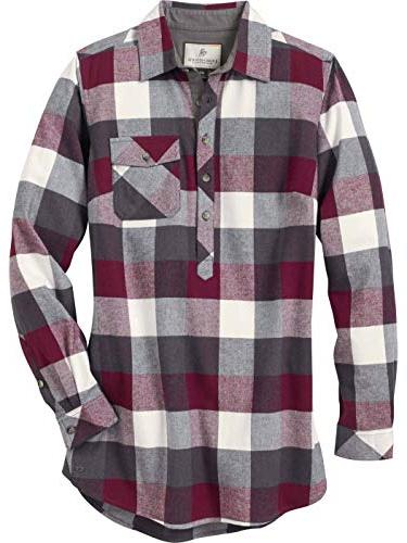 firelight popover flannel tunic mulberry