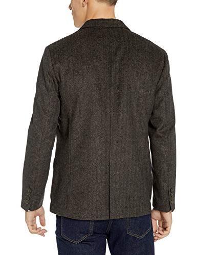 Goodthreads Men's Standard-Fit Blazer, tan Herringbone,