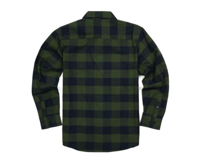 Yago Flannel Button Down / Navy YG2508