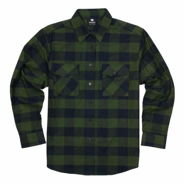 flannel check patterned button down shirt green