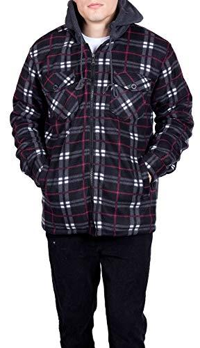 Mens Flannel Jackets for Fleece Sherpa Lined 4X